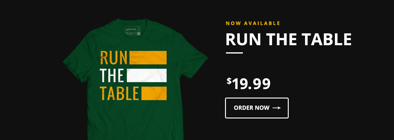Run The Table - 2016 Green Bay Packers Aaron Rodgers
